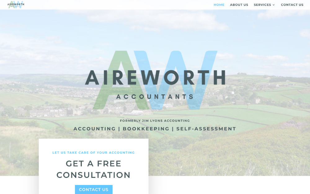 DLS Web Design - Aireworth Accountants Keighley