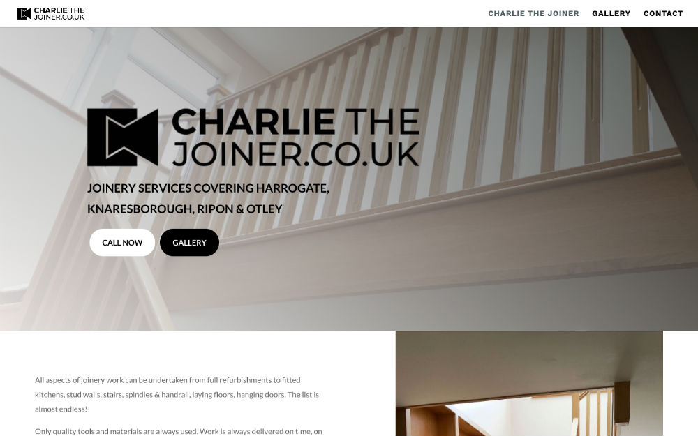 DLS Web Design - Charlie The Joiner Harrogate