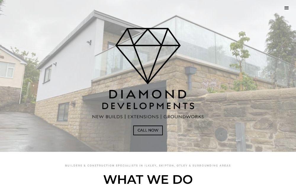 Diamond Developments - DLS Web Design