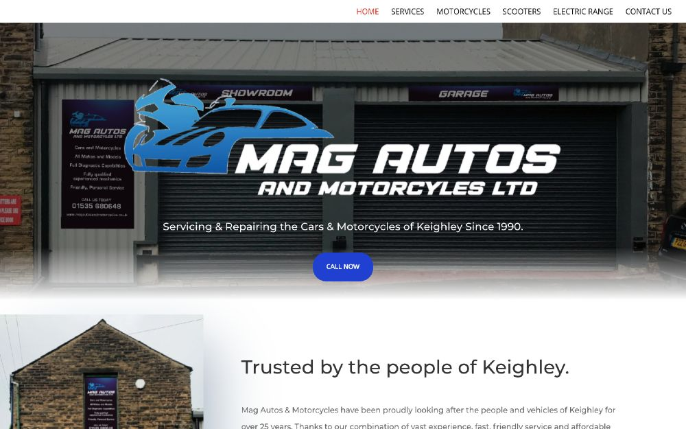 MAG Autos and Motorcycles - DLS Web Design
