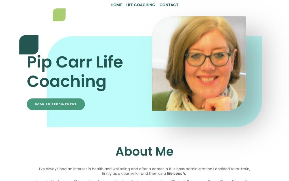 Pip Carr Life Coaching - DLS Web Design